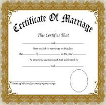 Certificate of Love Marriage
